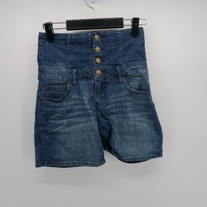 Forever 21 High Waist Button Up Denim Jean Shorts